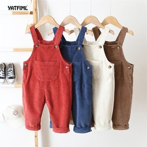 Spring Autumn New Baby Girl Overalls High Quality Children Casual Trouser Boy Jumpsuit Kids Toddler Pants Baby Jumpsuits 201207