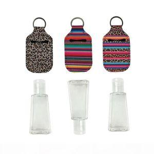 2020 Neoprene Hand Sanitizer Bottle Holder Keychain Bags 30ML 10.3*6cm Key Rings Hand soap Bottle Holder high quality