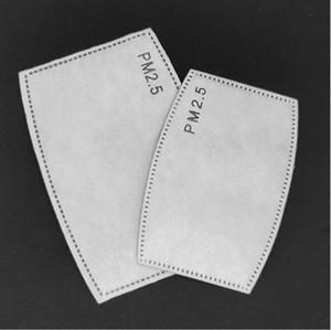 5 strati PM2.5 Maschera Filtro aria fresca maschera con filtro al carbone attivo Kid adulti sostituzione del filtro Pad respiratore di ricambio per maschere LJJP660