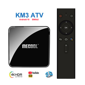 MECOOL KM3 Google Certificated TV Box Android 10 Amlogic S905x2 4GB 64GB Quadcore 4K 2.4G 5G WiFi Smart Tv Box.