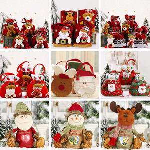 Saco de doces de Natal Bien Saco de Presente Santa Pant Cláusula Elk Snowman Estilo Cute Doces Saco de Presente Xmas Decoração