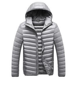 Winter Down Coats Mens Casual Parkas Solid Color Men Down Jackets Hoooded Long Sleeve Womens Outerwear Clothing Tops