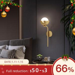 Nordic Wall Light para Ouro / Preto Modern Modaid Stair Lâmpada de Parede Lâmpada de Parede Acrílico Decoração Bedroom Indoor Iluminação G9