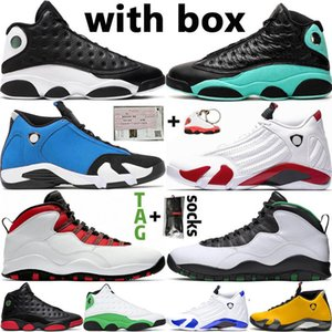 Новый DB Doernbecher 14 14s SUP White 13 13s Reverse He Got Game Island Green Men Basketball Shoes Wings 10 10s Мужские спортивные дизайнерские кроссовки