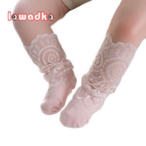 Lawadka recém-nascido bebê menina peúgas minúscula de algodão infantil laço meias para meninas verão barato material peock acessórios bebê y201001
