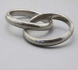Top Quality Vintage Cintas Desgastadas Moda Modern Braceletes Moderno Versátil Prata Dupla Camada Acessórios Pulseiras Fornecimento de Jóias
