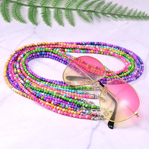 Dropshipping Chain 4MM Ribbon Sunglasses GIRL Mask Anti Slip Reading Stone Clip Eyewears Women Holder Neck Strap Lanyard MOON Bxrwi