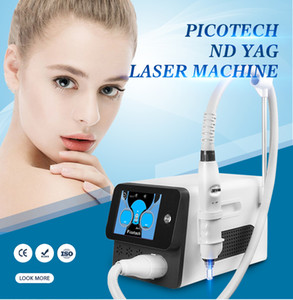 Portable picosecond tattoo removal laser machine 1064nm 755nm 532nm 1320nm q switched nd yag pico laser pot acne removal with 5 laser tips