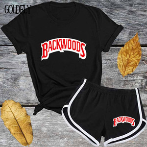 Cute black red Letter T shirt and Shorts Tracksuit Set Summer Women Short Sleeve O-neck Fashion Casual 2 Piece Outfit for Woman X0924