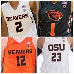 Oregon State Beavers College Basketball Jersey 13 Antoine Vernon 15 Payton Dastrup 22 Warren Washington 24 Kylor Kelley personalizzato cucito