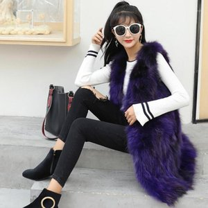 Lady 100% Natural Fur Long Vest Customize any Size Low Sale Drop Shipping Real Fur Gilet Long Coat sr7991