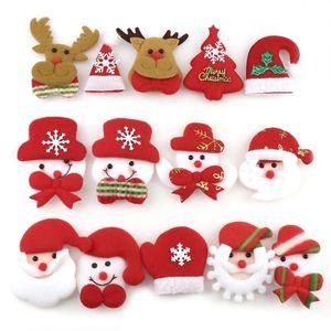 10PCS Merry Christmas Ornament plush snowman accessory Craft New Year DIY Santa Claus Pendants Home Furnishing Tree Decoration