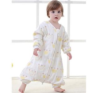 Warm Cotton Baby Sleeping Bag For 0-5Y Old Toddler Kids Sleepsack Comfortable Gauze Blanket Pyjama Newborn Swaddle Wrap Jumpsuit 201109