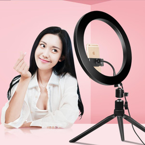 10 inch 26cm Dimmable LED Studio Camera selfie Ring Light Phone Video Light Lamp With Tripod for tiktok ringlight aro de luz