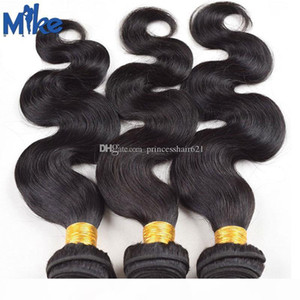 MIKEHAIR Brasiliano Body Wave Weaves Weaves Machine WeFted Wavy Hair Extensions 3 Bundles Peruvian Malaysian Indian Remy Human Human Hair Wholesale