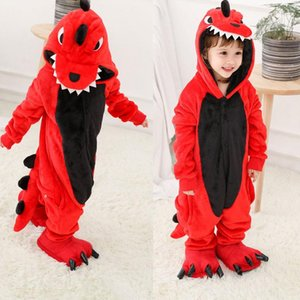 Boy Cartoon Sleepwear Hoodie Flannel Kigurumi Bear Pajamas Kigurumi Unicorn Anime Onesies For Kids Halloween Party Costume