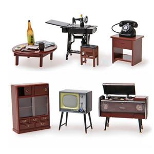 Odoria 6 adet 1:24 Japonca Vintage Mobilya Dollhouse Minyatür Aksesuarları Buzdolabı Magnet Seti Dekor Oyuncak Hediye Y200428