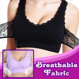 Women Underwear Sexy Lingerie Comfy Full Bra Lace Bralette Solid Color Front Cross Side Buckle Brassiere Buckle Push up DSA