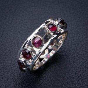 StarGems Natürlicher Amethyst Handgemachter 925er Sterlingsilber Ring 9 E2717 W1231