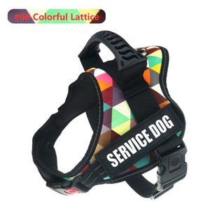 No Pull Harnesses For Service Dogs Reflective Adjustable Dog Harness Vest Collar For Medium Large Dog Supplies 1020
