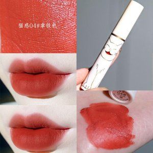New cat lip gloss white appearance sex red maple colors long lasting waterproof moisture matte liquid lipstick AC275
