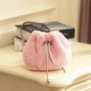 Vendita calda Il bambino scherza ragazze carine Bandage Crossbody Bag Plush borse della borsa della moneta del sacchetto di