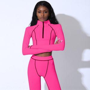 HHW8 Zipper Mulheres Perfuração Hot Strass Conjuntos Sem Mangas Nova Qualidade Top Skinny Curta Calças Terno Sporting Tracksuit Outfits Alto