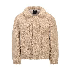 2021 inverno Faux Fur Coat Lapel Men Khaki di lana del cappotto del rivestimento di stile coreano uomini trincea Lana