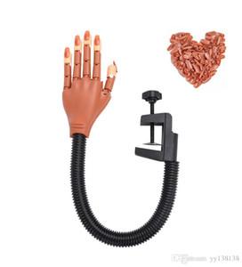 Обновление профессиональной практики Рука с Поддельные Типсы искусства ногтя руки инструмент Регулируемое Nail Art Model руки DIY маникюра Инструмент для начинающих Tr