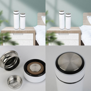 Sublimation Blank Thermos Cups Men Women Fashion White Coating Flat Head Straight Form Stainless Steel Vacuum Cup 13 5xy2 J2