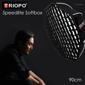 Triopo 90cm Speedlite Softbox Portable w  Honeycomb Grid Outdoor Octagon Umbrella Flash Soft Box for Godox1