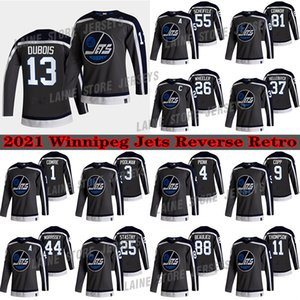 Winnipeg Jets Jersey 2021 Retro Retro 13 Pierre-Luc Dubois 26 Blake Wheeler 55 Mark Scheifele 25 Stastny 37 Hellebuyck Hokey Formaları