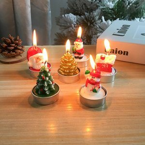 Christmas Candle Santa Snowman Candle Wedding Banquet Party Christmas Decorative Candle Free Shipping