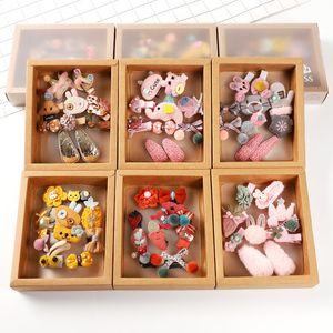 10 pz Little Princess Hair Clips Accessori Ragazza Bambini Copricapo Band Combinazione Set Set di confezione regalo Baby Fascia