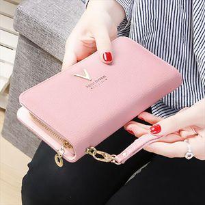 Fashion Leather Women Wallet Female Purse Long Section Leather Wallet Women Purse Money Handbag Phone Case Clip Pocket 2019