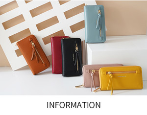 forever for you faux leather tassel zipper women fashion long wallet mulitfuction card holder lady zipper wallet