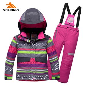 Winter Kids 2020 Snowsuit Sets Warm Hooded Girls Suit Ski Jacket Pants Outdoor Children Waterproof Snowboard Suits