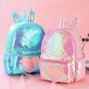 2020 Sequins Backpack Women girl School Bags for Teenage Girls Backpack Cute Unicorn Mochila Mujer Kids Sac A Dos Bagpack Pink