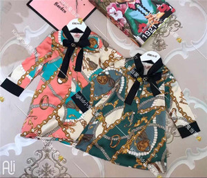 Fashion 2019 New Cat Summer Girls Girls Short sleeve Sweet princess dress Child Cute dress 1701 AB-1