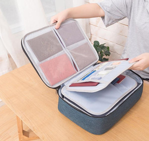 Large Capacity Waterproof Document Bag Organizer Papers Storage Pouch Credential Bag Diploma Storage File Pocket With Separator bbyGsIL