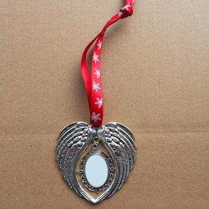 Blank Sublimation Wing Noël Vente chaude Forme Boule de Noël Maison de vacances Party Decoration Hanging Cadeau
