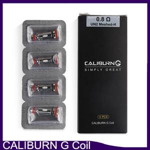 100% originale Caliburn G Coil Mesh 0.8ohm UN2 Meshed-H Sostituzione delle bobine di ricambio Testa per Kit di sistema Caliburn G Pod