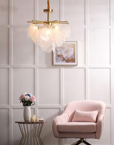 Nordic Glasscheibe führte Kronleuchter modernen Licht Luxus Anhänger speisesaal Designer Modell Raum Kronleuchter Beleuchtung Lampen leben