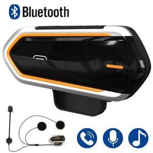 Motosiklet İnterkom Kask Kulaklıklar Kablosuz Bluetooth İnterkom Handsfree Su Geçirmez Kulaklık FM Radyo Moto Kulaklık Mic ile1