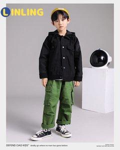 Linling Casual Childrenback Ropa Boy Coreano Moda Chaquetas Otoño Streetwear Cortavientos Harajuku Abrigos P260 201177