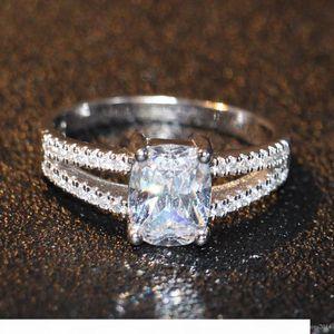 K Fashion Jewelry Luxury Eternal 2ct Topaz Cz 10kt Gold Filled Gf Simulated Diamond Wedding Engagement Band Ring For Women Sz 5 -11