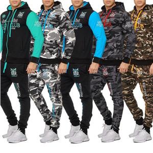 Мужские Камуфляж толстовки пальто куртки и беговые брюки мужские костюмы 2020 Экипировка для мужчин Толстовка 2 шт Набор