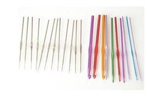 Спицу 22pcs Набор алюминиевого вязание Крючки металл крючок свитер игла Набор 22pcs / Set Ручного инструмента для шитья Ooa7382 -6