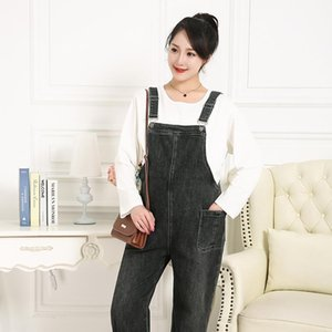 Autumn Ladies' Jumpsuit Fash Pants for Pregnant 3XL-6XLwomen Maternity Clothes Jeans Female
