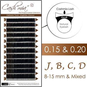 [0.15 0.20 J B C D] Cashmere Flat Lash X-wrap Eyelash Extension Semi Permanent for Luxury Salon